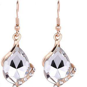 3/$20 New Silver & Gold Gemstone Dangle Earrings